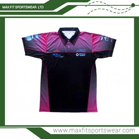 Custom made sublimated printed dry fit polyester polo for Custom dry fit polo shirts