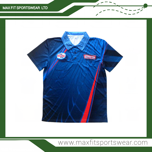 Printed Polo Shirt High Quality Custom Made Dri Fit Team Polo Racing